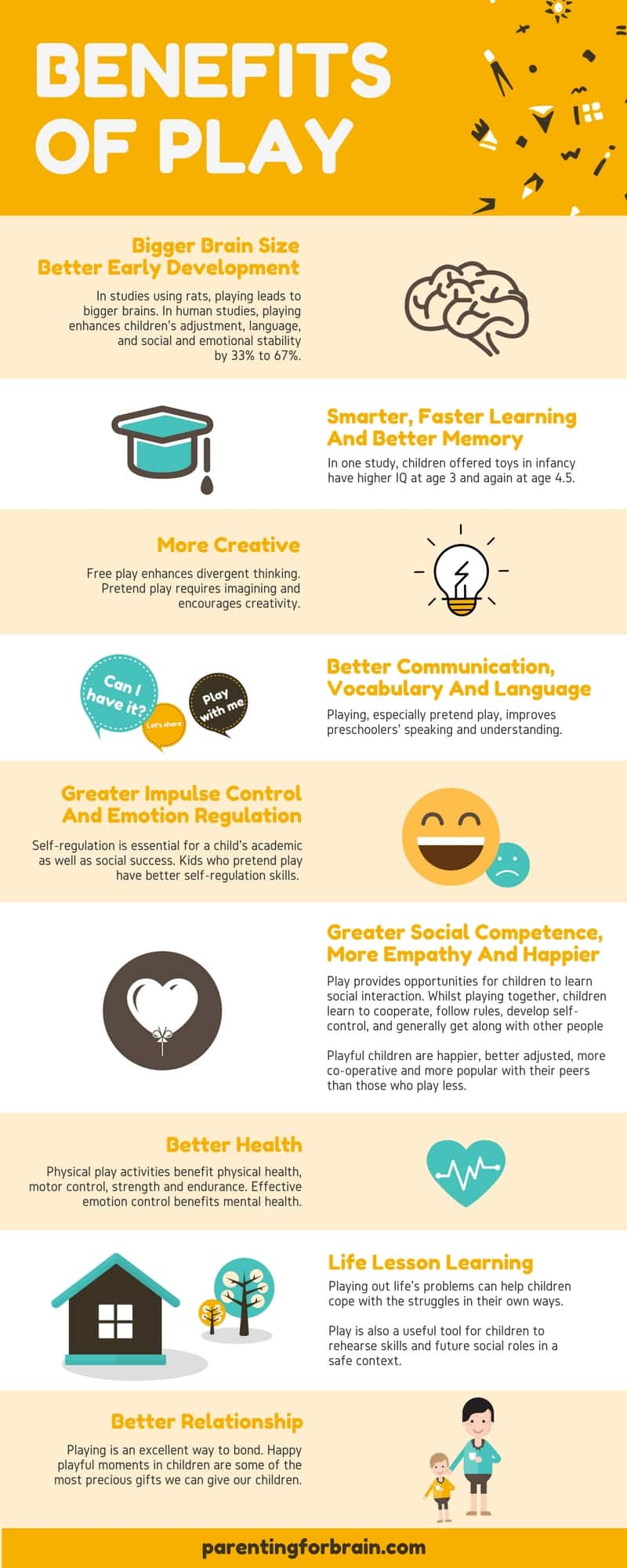 9 Amazing Benefits Of Play Infographic Parenting For Brain