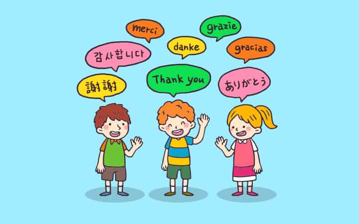 3 kids speak thank-you in different languages - critical period psychology