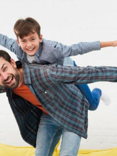 father and son do the airplane for Differential Susceptibility