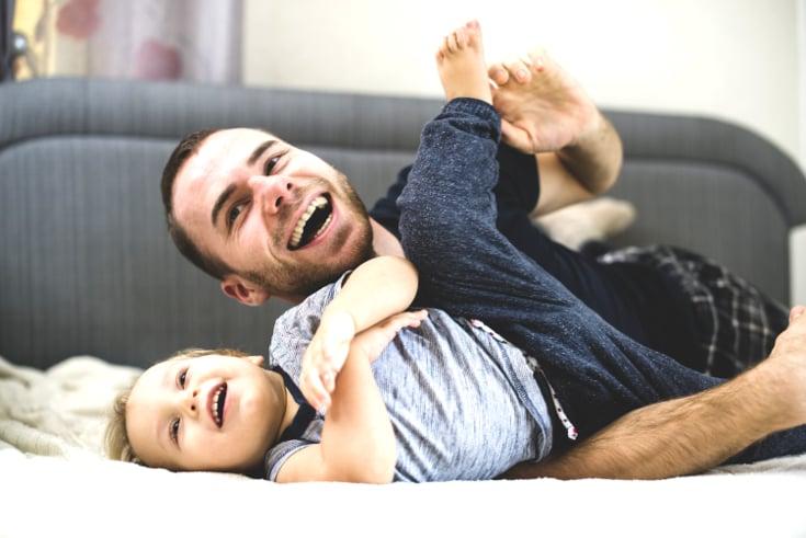 Father son wrestle - age appropriate discipline