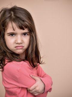 an angry disrespectful girl