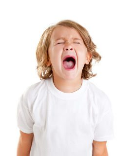 child screams with anger issues in kids