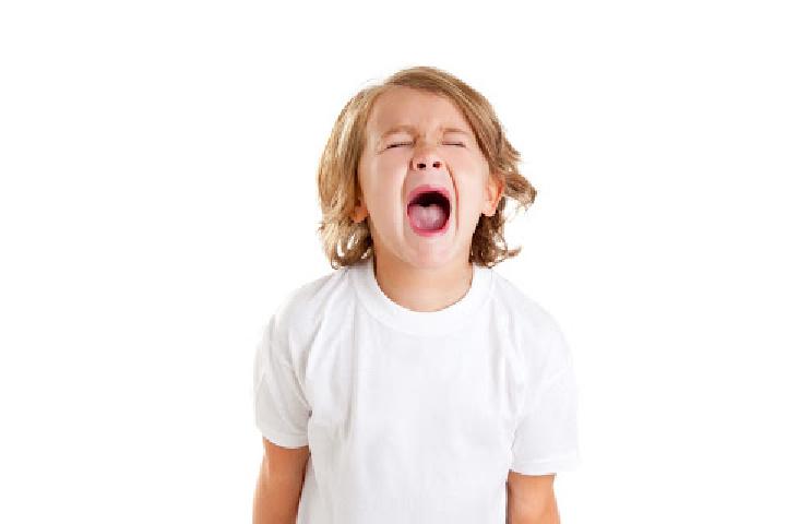 child screams