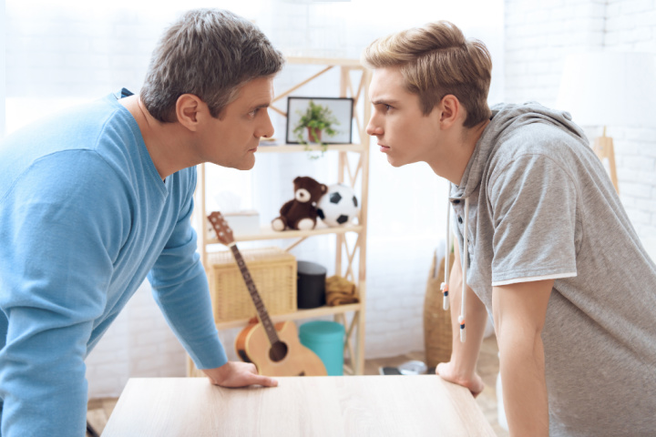 father son engages in argument in a coercive cycle