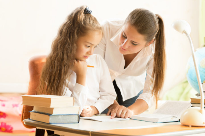 helicopter moms hovers daughter over homework