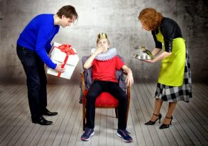 Parents show indulgent behavior while boy is acting like a king - Permissive Parenting