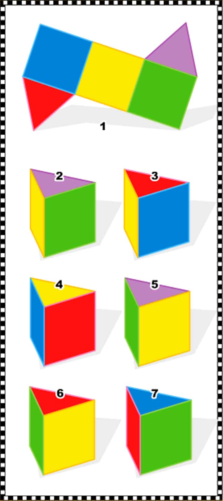 3D prism test - visual spatial intelligence example