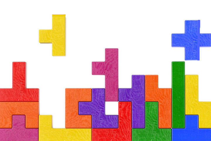Tetris spatial video game